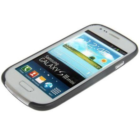 Schutzhülle Case Ultra Dünn 0,3mm für Handy Samsung Galaxy S3 mini i8190 / i8195 / i8200 Grau Transparent – Bild 3