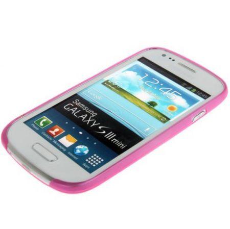 Schutzhülle Case Ultra Dünn 0,3mm für Handy Samsung Galaxy S3 mini i8190 / i8195 / i8200 Pink Transparent – Bild 3