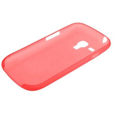 Schutzhülle Case Ultra Dünn 0,3mm für Handy Samsung Galaxy S3 mini i8190 / i8195 / i8200 Rot Transparent – Bild 2