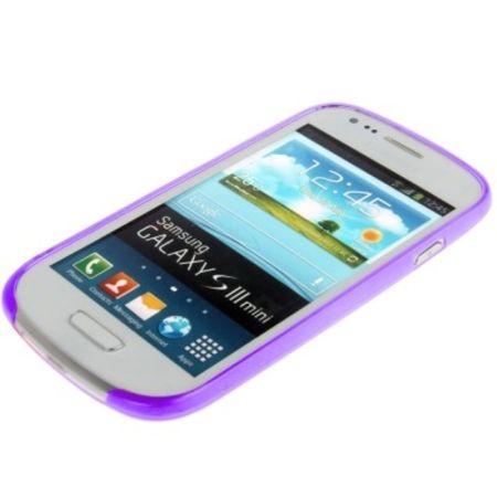 Schutzhülle Case Ultra Dünn 0,3mm für Handy Samsung Galaxy S3 mini i8190 / i8195 / i8200 lila Transparent – Bild 4