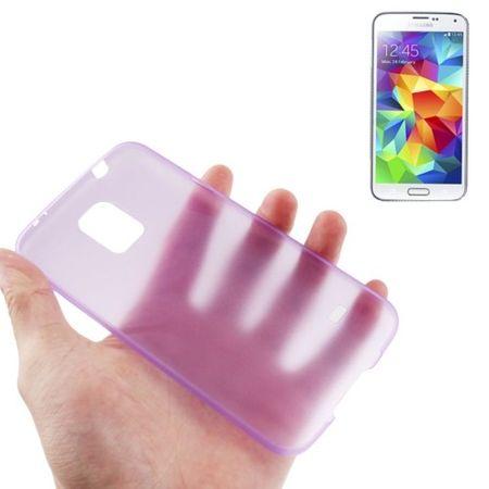 Schutzhülle Case Ultra Dünn 0,3mm für Handy Samsung Galaxy S5 / S5 Neo lila Transparent