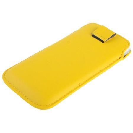 Handyhülle Tasche Slide für Handy Samsung Galaxy S4 i9500 / i9505 / i9506 / GT-i9515 / S5 / S3 / i9600 / i9500 / i9300 / i9250 / i8750 gelb – Bild 3