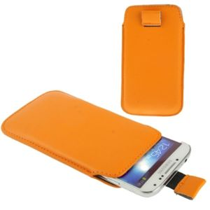 Handyhülle Tasche Slide für Handy Samsung Galaxy S5 / S5 Neo Orange