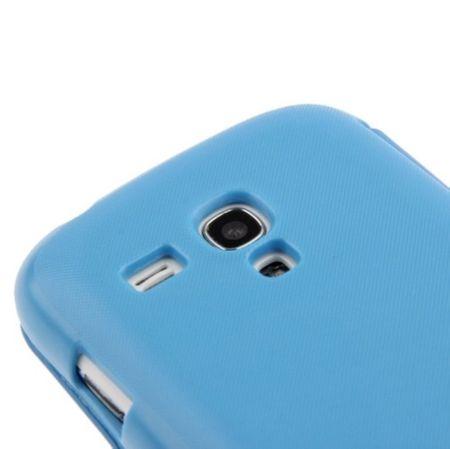 Handyhülle Tasche für Samsung Galaxy S3 mini i8190 / i8195 / i8200 blau gebürstet – Bild 4