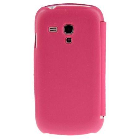 Handyhülle Tasche für Samsung Galaxy S3 mini i8190 / i8195 / i8200 pink gebürstet – Bild 3