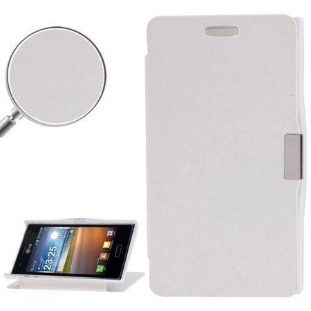 Handyhülle Tasche für LG Optimus L5 / E610 weiß gebürstet