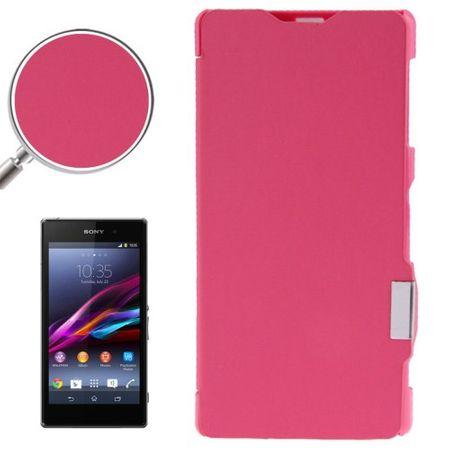Handyhülle Tasche für Sony Xperia Z1 / L39h pink gebürstet – Bild 1