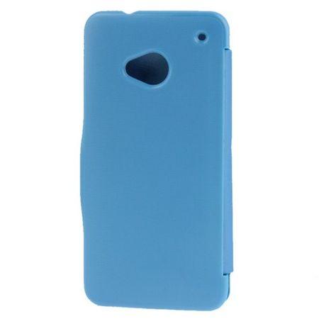 Handyhülle Tasche für HTC One / M7 blau gebürstet – Bild 3
