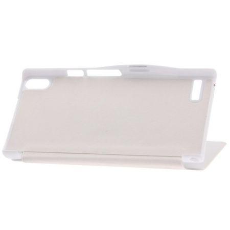 Handyhülle Tasche für Huawei Ascend P6 weiß gebürstet – Bild 3