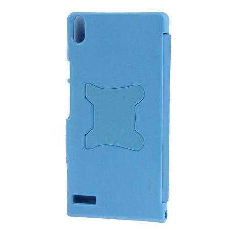 Handyhülle Tasche für Huawei Ascend P6 blau gebürstet – Bild 4