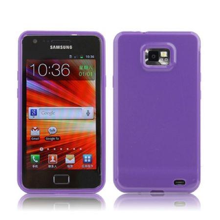 Schutzhülle TPU Case für Handy Samsung I9100 / i9505 Galaxy S2 Lila / Violett – Bild 1