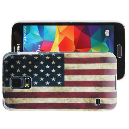 Schutzhülle Hard Case für Handy Samsung Galaxy S5 / S5 Neo Motiv USA