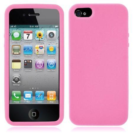 Schutzhülle Silikon Hülle für Handy iPhone 5 & 5s Rosa