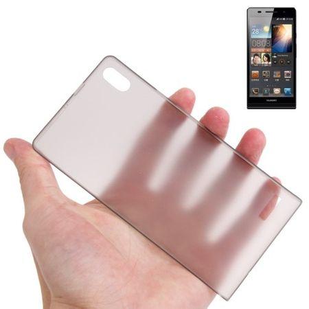Schutzhülle Case Ultra Dünn 0,3mm für Handy Huawei Ascend P6 Grau Transparent