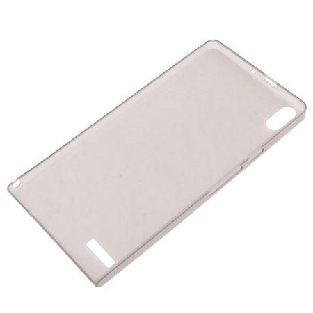 Schutzhülle Case Ultra Dünn 0,3mm für Handy Huawei Ascend P6 Grau Transparent – Bild 2