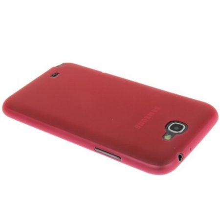 Schutzhülle Case Ultra Dünn 0,3mm für Handy Samsung Galaxy Note 2 N7100 Rot Transparent – Bild 3