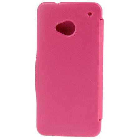 Handyhülle Tasche für HTC One / M7 pink gebürstet – Bild 3