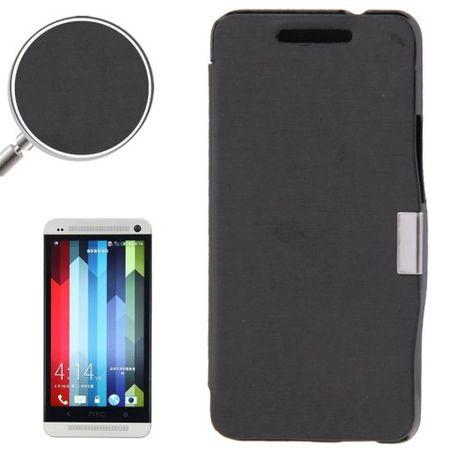 Handyhülle Tasche für HTC One / M7 schwarz gebürstet – Bild 1