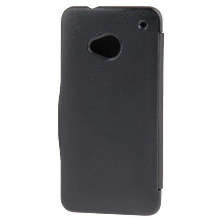 Handyhülle Tasche für HTC One / M7 schwarz gebürstet – Bild 3