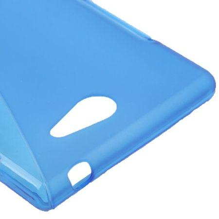 Handyhülle S Line TPU Tasche für Sony Xperia M2 S50h Blau – Bild 3