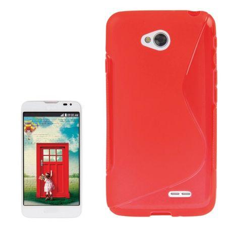 Handyhülle S Line TPU Tasche für LG L70 / Dual D325 Rot