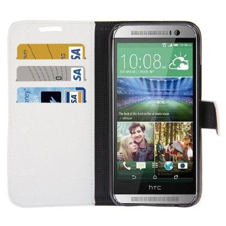 Schutzhülle PU Handytasche (Flip Quer) für Handy HTC One 2 M8 Weiß – Bild 2