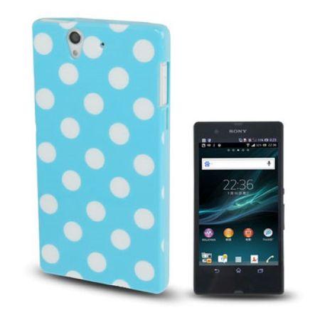 Schutzhülle TPU Punkte Case für Handy Sony Xperia Z / L36H / C660X