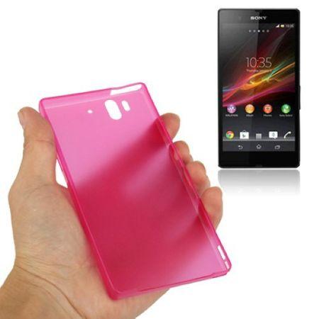 Schutzhülle Case Ultra Dünn 0,3mm für Handy Sony Xperia Z / L36H / C660X Pink Transparent