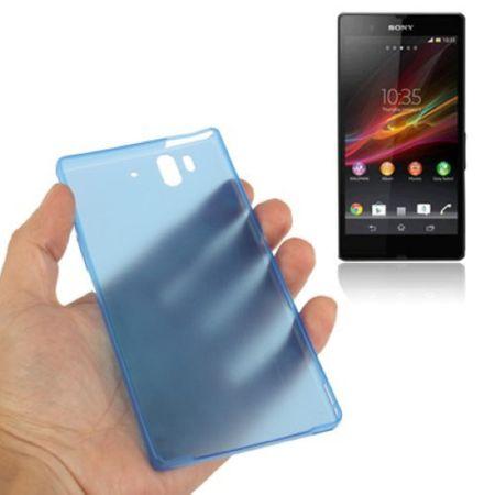 Schutzhülle Case Ultra Dünn 0,3mm für Handy Sony Xperia Z / L36H / C660X Blau Transparent