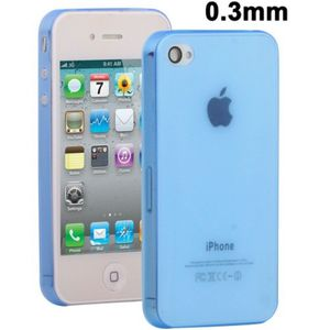 Schutzhülle Hard Case Hülle für Handy Apple iPhone 4 & 4S Blau transparent