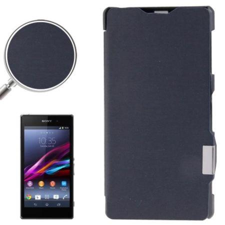 Handyhülle Tasche für Sony Xperia Z1 / L39h / C6903 dunkelblau gebürstet – Bild 1