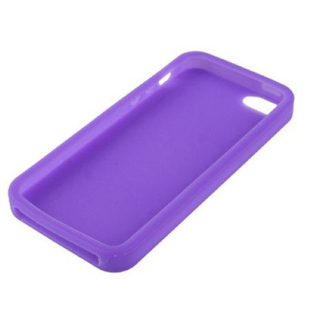 Schutzhülle Silikon Hülle für Handy iPhone 5 & 5s Lila / Violett – Bild 3