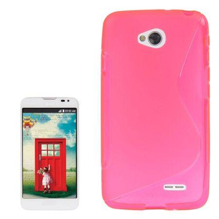 Handyhülle S Line TPU Tasche für LG L70 / Dual D325 Pink