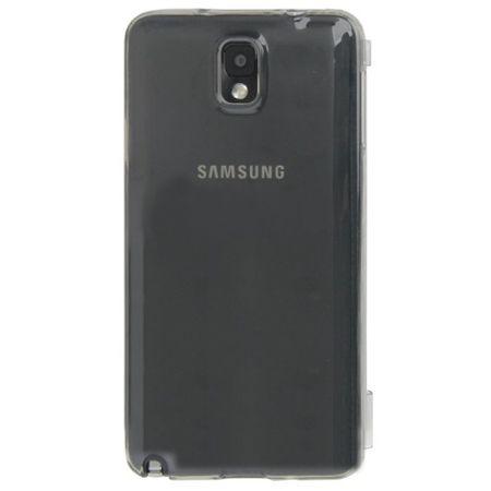 Handyhülle Flip Quer für Handy Samsung Galaxy Note 3 Grau – Bild 3