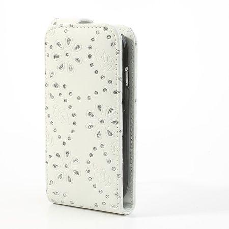 Handyhülle Strass für Handy Samsung Galaxy S3 mini i8190 / i8195 / i8200 Weiß – Bild 3