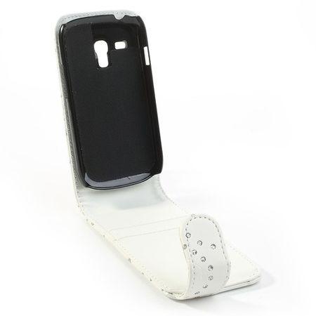 Handyhülle Strass für Handy Samsung Galaxy S3 mini i8190 / i8195 / i8200 Weiß – Bild 4