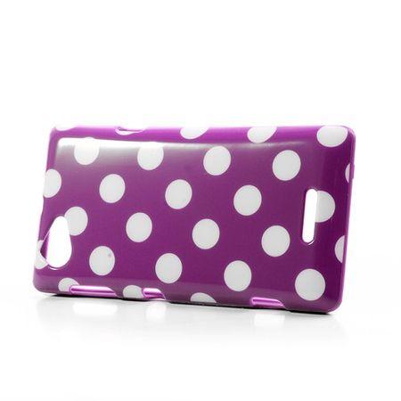 Schutzhülle für Handy Sony Xperia L S36h lila/violett – Bild 3