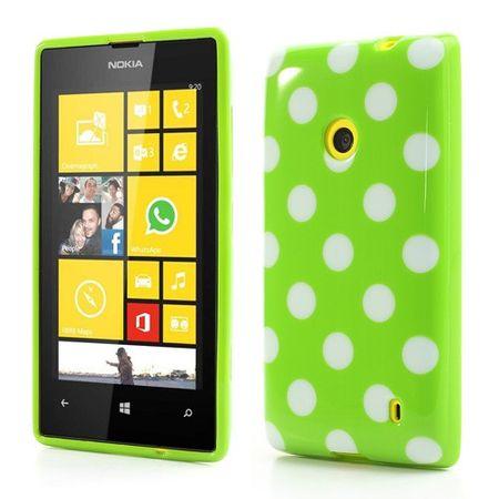 Schutzhülle TPU Case für Handy Nokia Lumia 520 525 Grün / Weiß