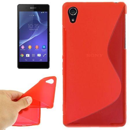 Handyhülle TPU-Schutzhülle für Sony Xperia Z2 rot