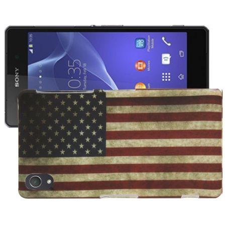 Hülle Retro Flagge TPU Tasche für Sony Xperia Z2 L50w