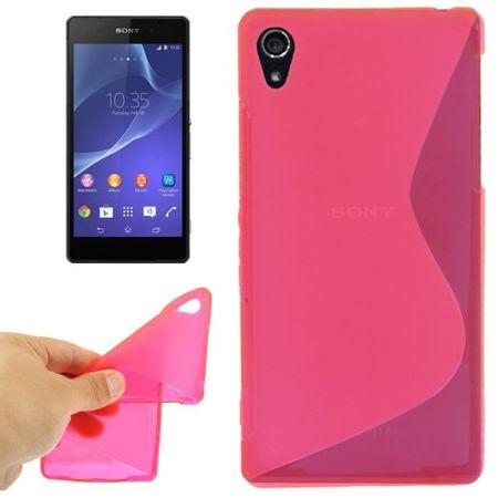 Handyhülle TPU-Schutzhülle für Sony Xperia Z2 pink