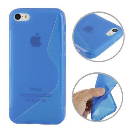 Handyhülle TPU Case für Handy Apple iPhone 5C blau – Bild 1