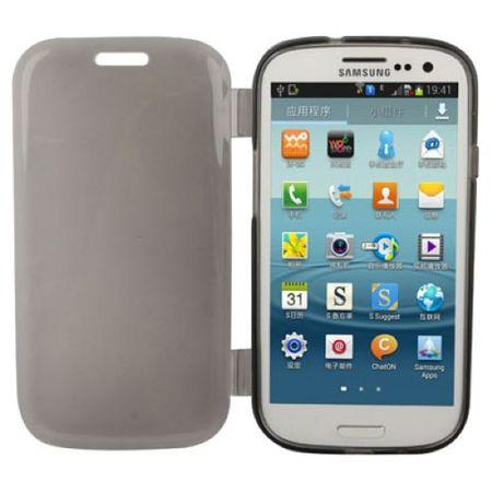 Handyhülle Flip Quer für Handy Samsung Galaxy S3 Grau – Bild 2