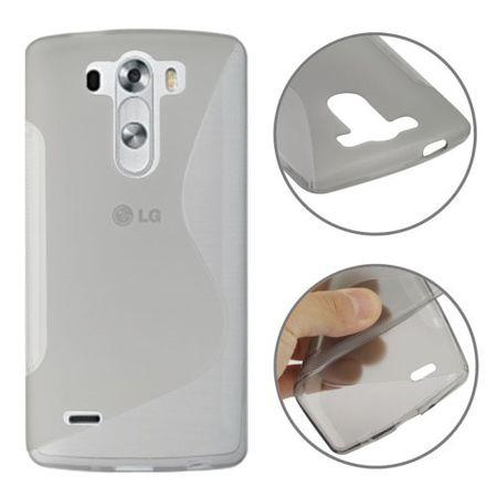 Schutzhülle TPU Case Hülle für Handy LG G3 mini grau