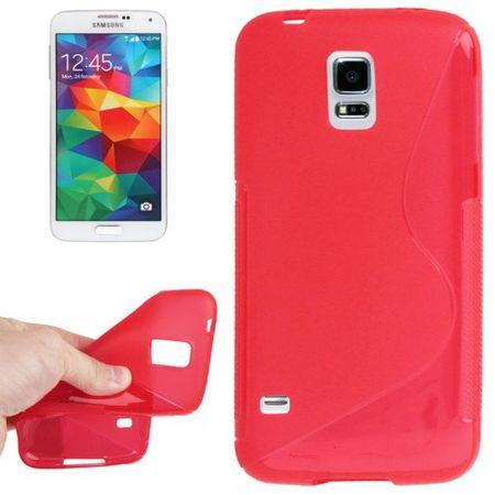 Schutzhülle TPU Case Hülle für Handy Samsung Galaxy S5 mini rot