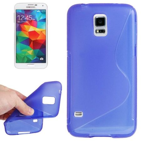 Schutzhülle TPU Case Hülle für Handy Samsung Galaxy S5 mini blau