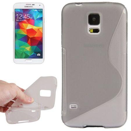 Schutzhülle TPU Case Hülle für Handy Samsung Galaxy S5 mini grau