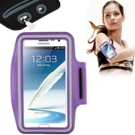 Sportarmband für Samsung Galaxy Note 2 N7100 / Note 3 N9000 Lila / Violett