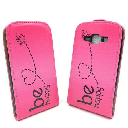 Handyhülle Tasche für Handy Samsung Galaxy J1 Be Happy Pink – Bild 2