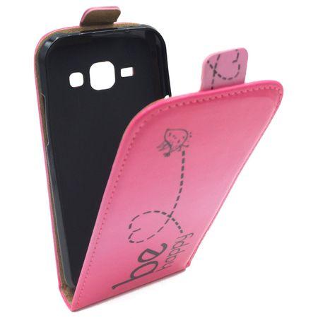 Handyhülle Tasche für Handy Samsung Galaxy J1 Be Happy Pink – Bild 3